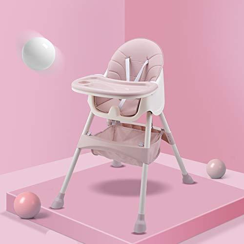 Jueven Baby Esszimmerstuhl Esstisch multifunktions Einstellbare Tragbare Baby Hochstuhl Baby, Kleinkind Kinder Esszimmerstuhl Sitz Sitzkissen + Aufbewahrungstasche (Color : Pink) - Doppel-wippe-sitz