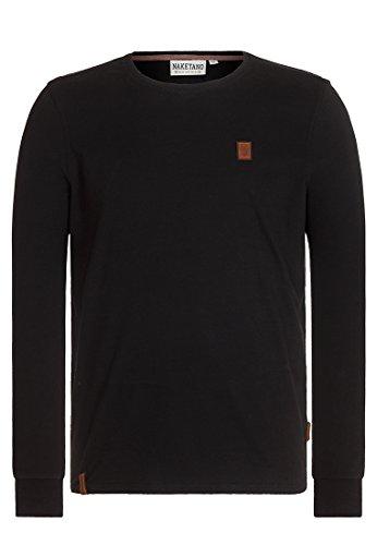 Herren Langarmshirt Naketano Italienischer Hengst Langen V T-Shirt