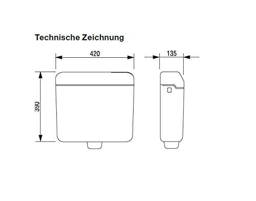 Aufputz-Spülkasten Start Stopp Schwab AP 120 manhattan AP-Spülkasten