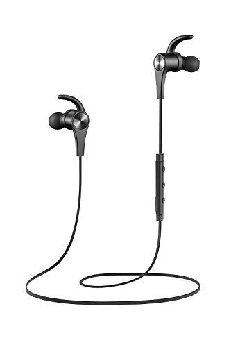 Auriculares magnético SoundPEATS Auriculares Bluetooth 4.1 Cascos inálambrico Deportivos, tecnología de Ruido de Cancelación CVC 6.0,Sonido Estéreo de calidad superior (Negro)