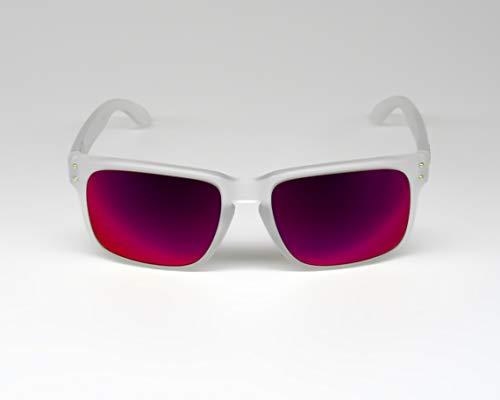 F. KRIEGER Ein Paar Premium Ersatzgläser/Wechselgläser passend für Oakley Holbrook - Direkt vom Optiker, Made in Germany (Pink)