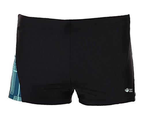 AQUAWAVE Herren Pezo Swimming Trunks Black/Squares Print