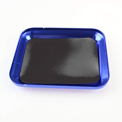 EDtara Geburtstagsgeschenk | RC Magnetic Parts Storage Tray for Hardware, Screws & Nuts,Schraubenablage for RC Auto LKW RC Modell Elektronik Reparatur Handwerkzeug Blue