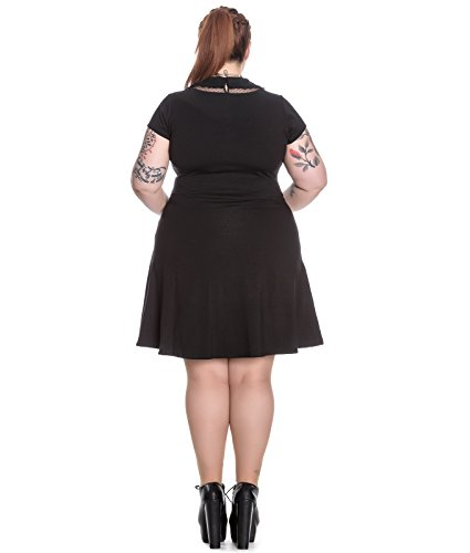 Spin Doctor Ebony Jersey Mini Short Alternative Gothic Dress Black – UK 12 (M)