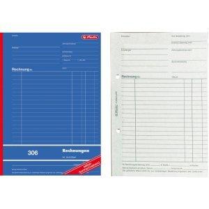 Herlitz 3 x Formularbuch Rechnung A4 306 2x40 Blatt selbstdurchschreibend