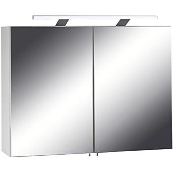 quentis spiegelschrank breite 75 cm lichtleiste mit 2 fach led beleuchtung. Black Bedroom Furniture Sets. Home Design Ideas