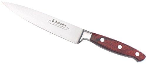K Sabatier - Cuisine / Utility 15 Cm K Sabatier - Gamme Elegance - Acier Inoxydable - Manche Bois - 100% Forge - Entièrement Fabrique En France