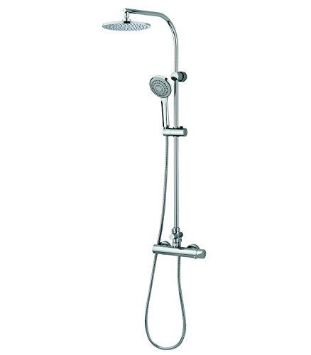 Grb tender - Monomando ducha +columna telescopica rociador cromo