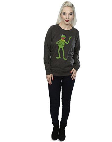 Muppets Femme Classic Kermit Sweat-Shirt Graphite Lumière