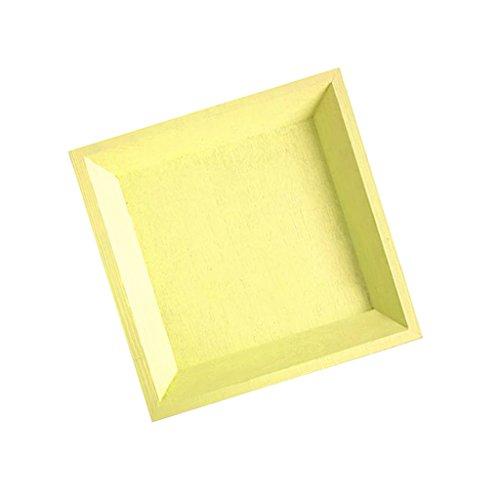 IPOTCH Serviertablett Servierplatte Obst Brot Tablett Deko Teller - Gelbes Quadrat (groß) (Quadrat Teller Gelbe)