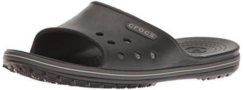 crocs Crocband 2 Slide, Unisex - Erwachsene Badeschuhe, Schwarz (Black/Graphite), 41/42 EU