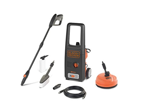 Black+decker bxpw1400pe idropulitrice ad alta pressione (1400w, 110 bar, 390 l/h) con patio cleaner e spazzola fissa