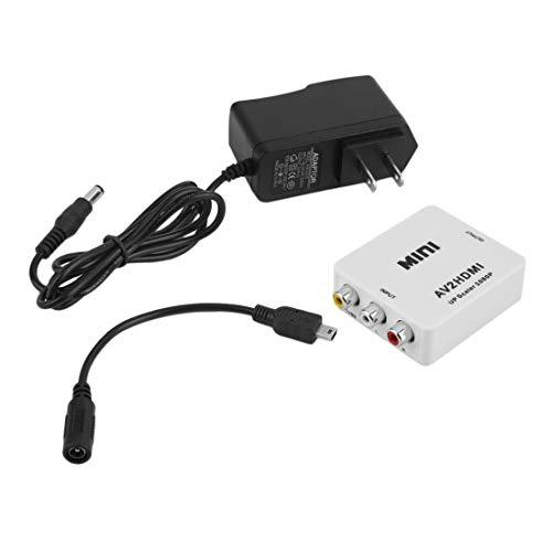 1 Satz hohe Qualität RCA AV Stecker auf HDMI Buchse Konverter Adapter Full HD 1080 P Mini Composite CVBS zu HDMI AV2HDMI Audio Converter
