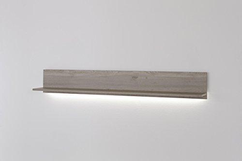 Dreams4Home Wohnkombination 'Cono I' 4-teilig, optional mit Beleuchtung, Schrank, TV-Schrank, TV Element, Wohnwand, Wohnelement, Wohnzimmer, Regalwand, Highboard, Vitrine, Eiche Nachbildung, Beleuchtung:mit LED Beleuchtung - 5