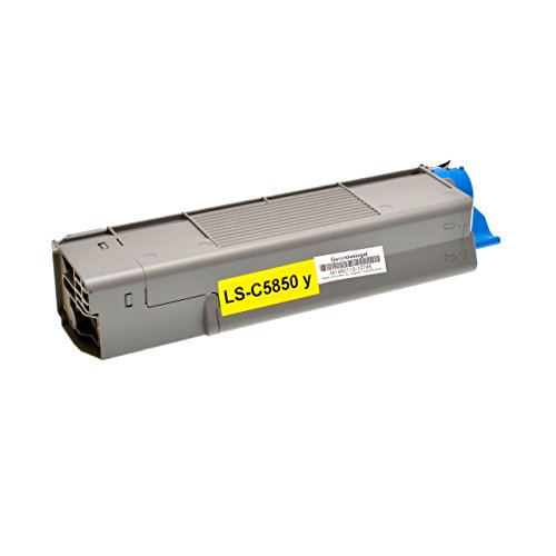 Logic-Seek Toner für Oki C5850 / C5950 43865721, 6000 Seiten, gelb