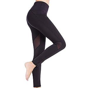 SEYO Sport Leggings Damen Yogahose Leggins Hoher Bund Sporthose Blickdicht Leggings 3/4 und Lang Tasche Fitnesshose Lang