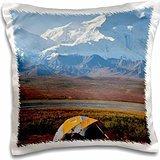 Alaska - USA, Alaska, Denali National Park, Mt McKinley 16x16 inch Pillow Case -