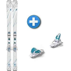 K2 Pack Ski True Luv + Befestigungen ER310Compact quikclik–Damen–Weiß