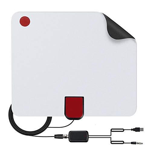 ZUZU Flat-HD-Signalverstärker TV-Antenne Konvertierungskopf HDTV 80, Flat-HD-TV-verstärkte Digitale Zimmerantenne High Gain 50 Miles Range,A High-gain-tv