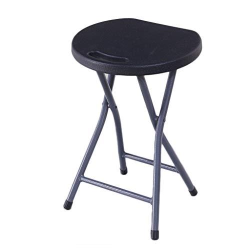 UCYG Campingstuhl Gartenmöbel Stühle, Klappstuhl Stuhl Möbel Gartenstuhl Outdoor Mit Metallrahmen Für Garten Küche Camping, Belastbarkeit 150KG, Rücken 150KG, 46x33x27cm, Brown (Color : Black)