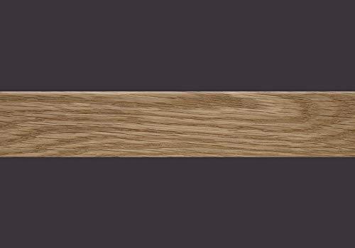 Furnierkante Eiche, mit Schmelzkleber 0,6 x 24 mm, Rolle à 50 lfm -