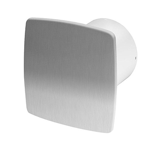 Stainless Steel Bathroom Extractor Fan 100mm / 4 Timer & Humidity Sensor WNI100H by Armar
