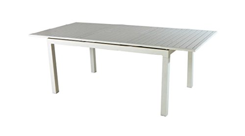 PEGANE Table Extensible en Aluminium Coloris Blanc - 160/210 x 90 cm