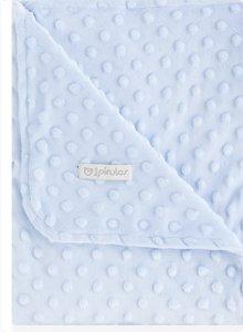 pirulos 64005103–Decke doppelseitig, 80x 110, Design Dots, Farbe blau