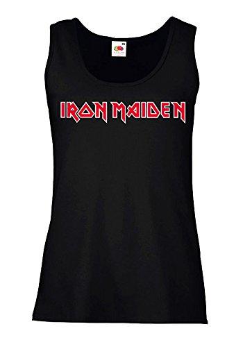 """Canotta Donna """"Iron Maiden"""" - 100% cotone LaMAGLIERIA, S, Nero"""