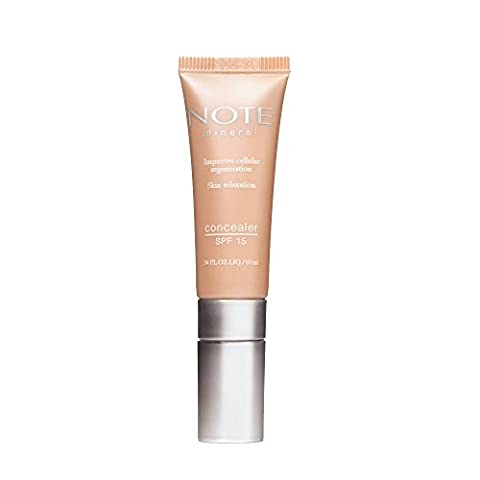 NOTE Cosmetics Mineral Concealer Cream - Powder 201 - Light Peach Colour Corrector - Long Lasting Organic Makeup - Covers Dark Circles and Spots - Tube form 10 ml