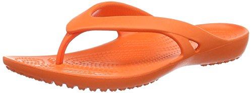 Crocs Kadeeiiflipw, Chaussons Mules Femme Orange (Tangerine)