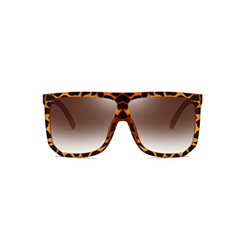 ZHAO YING Übergroße Sonnenbrille Super Flat Top Square Sonnenbrille Große Cat Eye Sonnenbrille Mode Sonnenbrillen (Farbe : F)
