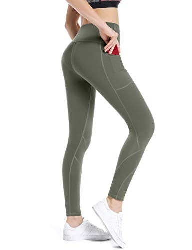 ALONG FIT Sport Capri Leggings mit Taschen Damen Sporthose Yogahose Fitnesshose Yoga Leggings für Damen