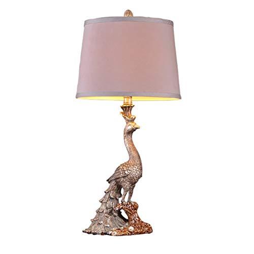 Schreibtischlampen Tischlampe, Klassische Pfau-Tischlampe, luxuriöse dekorative Tischlampe im europäischen Stil, Schlafzimmer-Nachttischlampe Kreatives Wohnzimmer