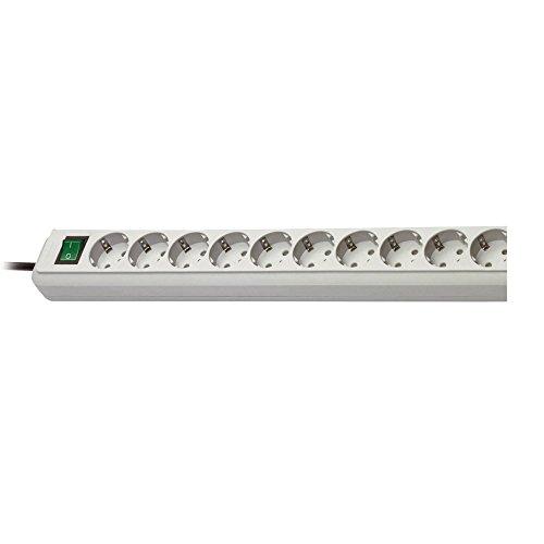 Preisvergleich Produktbild Eurosell Verlängerungssteckdose Eco-Line Steckdosenleiste 10-fach 3.00 m Grau - Schutzkontakt