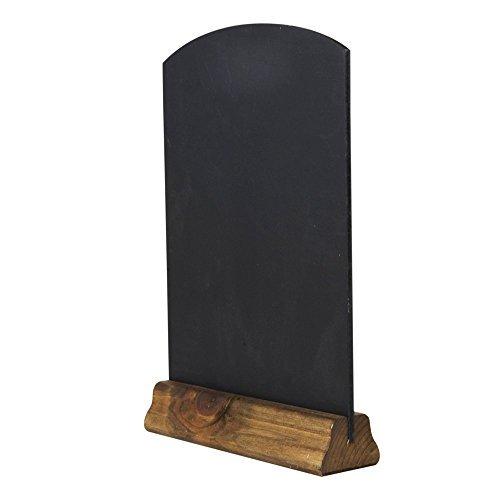 Kreidetafeln UK Tischplatte Kreidetafeln mit Sockel, Holz, schwarz, 31x 21x 4cm