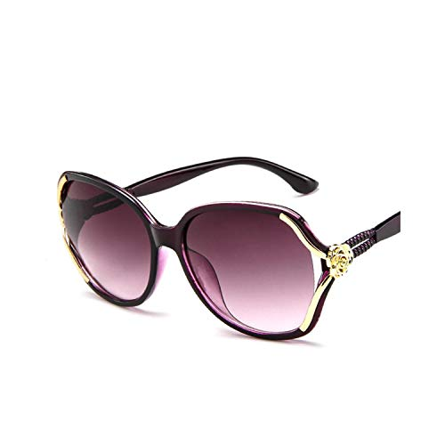 Sportbrillen, Angeln Golfbrille,NEW Flower Sunglasses Women Gradient Classic Vintage Ladies Oversized Sun Glasses UV400 Glasses Feminino purple