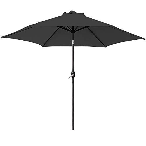 Schwarz Sonnenschirm Marktschirm Gartenschirm mit Neigevorrichtung ()