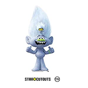 Star Cutouts Ltd SC1505 Star Cutouts Mini Diamond Guy con minúsculas para fanáticos de trolls, 91 cm de altura, 41 cm de ancho, multicolor