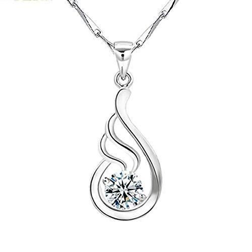 Dioor gioielli per le donne regali per donna, cristallo/argento/oro ciondolo collana in argento sterling 925e cristallo ciondolo collana