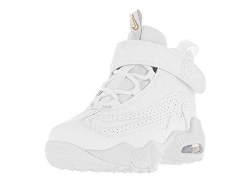 NIKE Kids Air Griffey Max 1 (PS) White/White Blue Glow Mtlc Gld Training Shoe 2 Kids US