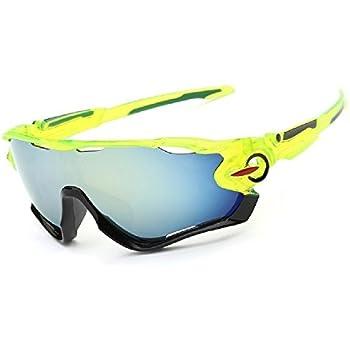 Queshark Voll Revoed Polarisiert 3 Austauschbarem Bbjektiv für Männer Frauen Mit Sonnenbrillen Sport Radsport Brillen (Weiße Rot) bR32Zga1v