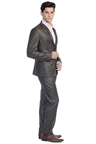 Wintage - Costume - col à revers - Manches Longues - Homme Marron