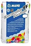 """Keracolor FF Flexfuge weiß"" Feinfuge, flexibler Fugenmörtel, für Fugen von 2 bis 6 mm (1 Beutel 5 kg weiß)"