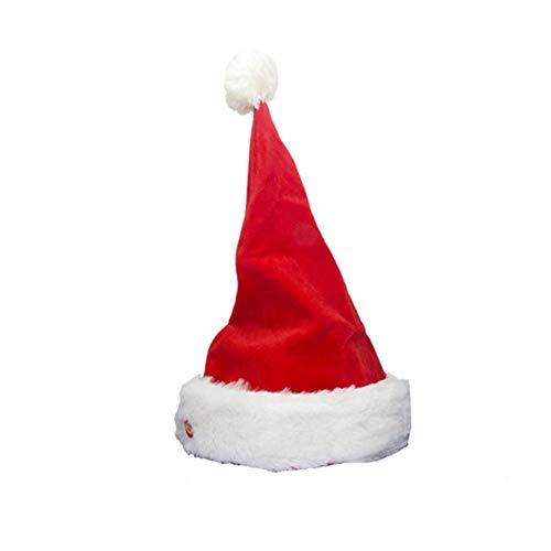 URMAGIC Weihnachtsmütze Singende und tanzende Nikolausmütze Weihnachtsmann Singener Figure Geschenk Spielzeug Kinder Weihnachten Dekorationen(Zipfelmütze die Sich bewegt) -