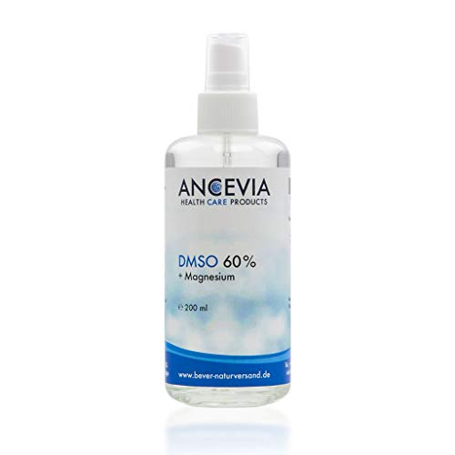 Öl 60 Gels (ANCEVIA DMSO 60 mit Magnesium 200ml | Pharmazeutisches DMSO Ph. Eur + Magnesium Öl | Spray Sprühkopf Glasflasche | Made in Germany | Dimethylsulfoxid | Aqua Purificata)
