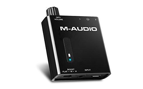 M-Audio Bass Traveler - Amplificador portátil de auriculares con salida doble y...
