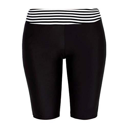 Setsail Die hohe Taillen-elastischer Streifen der Art- und WeiseDamen Plus Größen-Hosen-Yoga-Schwimmen-Sport-Kurzschlüsse Legere Hosen -