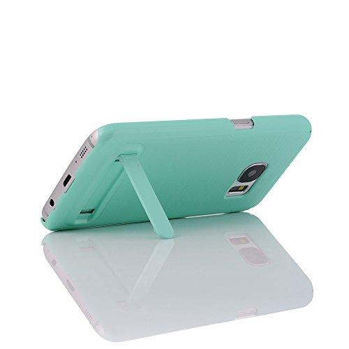 Skitic Coque pour iPhone 5 / 5S / SE, Design Brossé Case Cover avec Kickstand PC Bumper Hard Rugged Shell Contre les Chocs Housse Etui de Protection pour iPhone 5 / 5S / SE - Bleu Vert