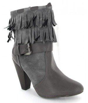 Chaussure Bas Prix - Bottines femme grises - 3168-9-2 Gris